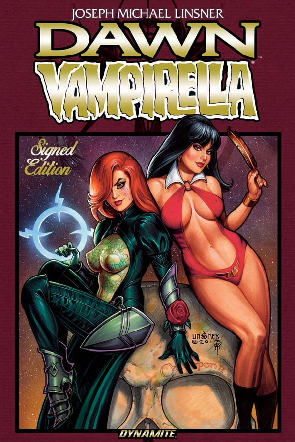 Emerald City Comic Con Announcement: Dynamite Entertainment Proudly Presents A Deluxe Hardcover Treatment Of Joseph Michael Linsner's Dawn / Vampirella