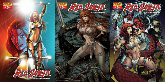 sketch variant RED SONJA 33 DYNAMITE 2008 SUMMER con exclusive 500 1st print