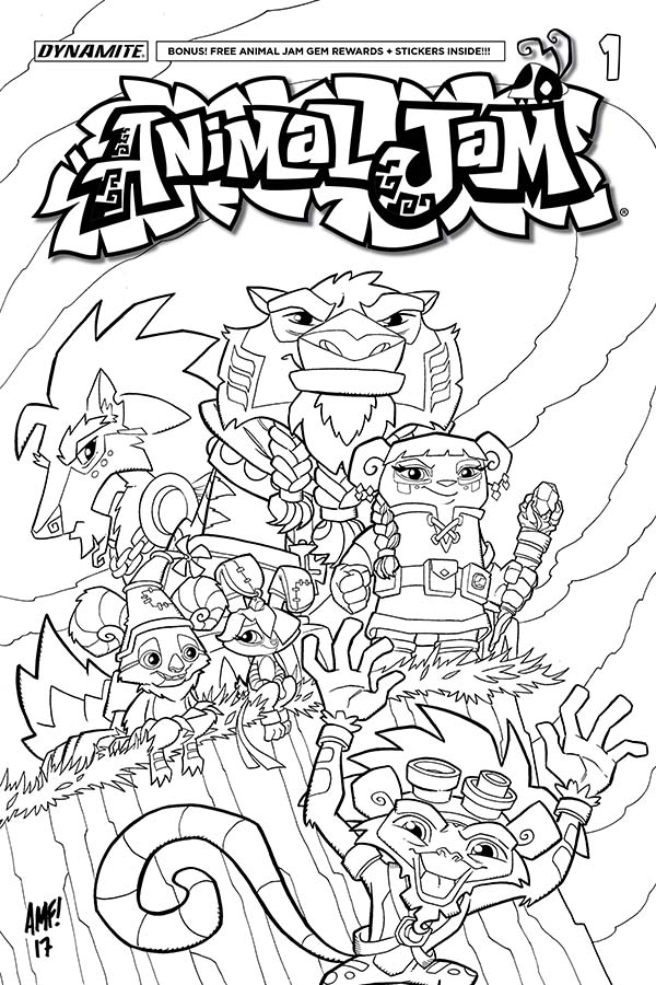 animal jam coloring pages - dynamite animal jam 1
