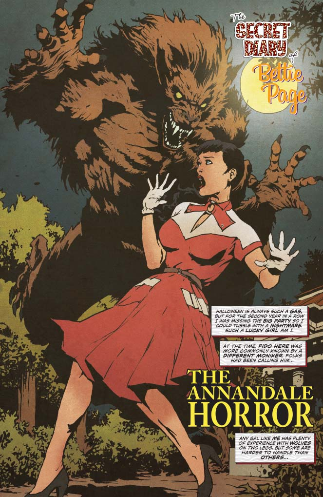 BETTIE PAGE HALLOWEEN SPECIAL Cover A  2019
